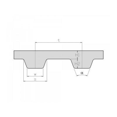 Rukáv ozubený ZR XL 150 (381 mm - 75 zubů)